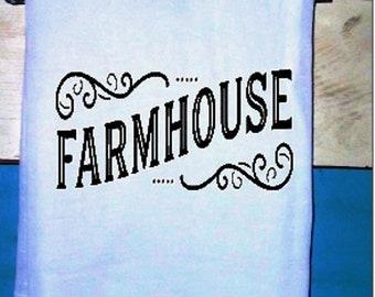FARMHOUSE-  Kitchen Towel Flour sack Tea Towel