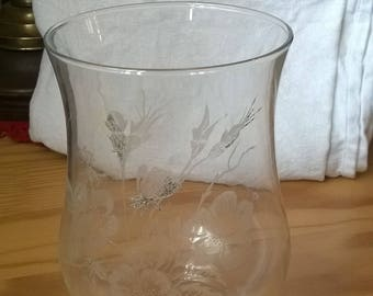 312) glass, old lamp globe