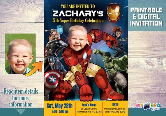 Ironman birthday party invitation avengers party invitation filmwisefo