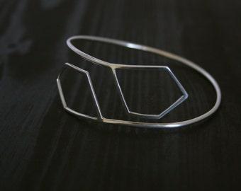Geometric Sterling silver Adjustable Arm cuff