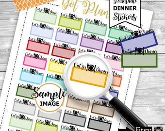 Out For Dinner Stickers, Functional Planner Stickers, Stickers For Planners, Printable Planner Stickers, Out For Dinner Label Stickers