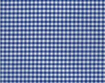 Royal Blue 1/8 Inch Small Gingham from Robert Kaufman's Carolina Gingham Collection - P-5689