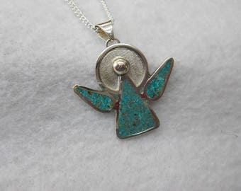 My Special Angel Inlaid With Kingman Turquoise