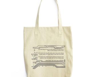 The Three Laws of Robotics tote bag