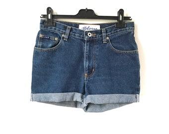 Denim Shorts. Vintage Denim Shorts. Blue Denim. Blue Jeans Shorts. Denim Pants. Vintage Jeans Shorts. Festival. Small Shorts. Blue Shorts