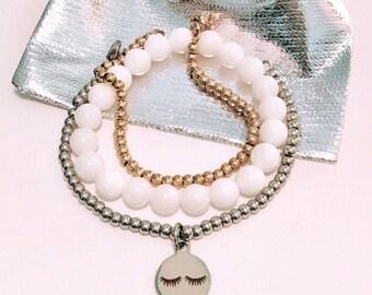 Charme de cils oeil sur votre choix de Bracelet