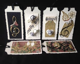 Music Gift Tags - set of six