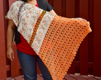 Digital Pattern Only - Bliss Crocheted Shawl