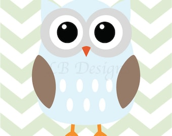 Owl Nursery Print, Woodland Nursery Decor, Fox Nursery Art, Boy Nursery Decor, Woodland Bedroom, Playroom Decor, Owl Bedroom Print - 8x10