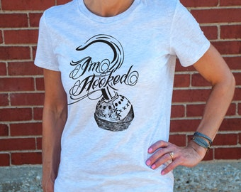 I'm Hooked (Once Upon a Time, Captain Hook, OUAT) Women's T-Shirt in Ash.
