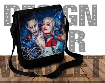 Shoulder Bag, Harley Quinn, joker, dc comics, design your bag, Custom handbag, small purse, Custom Gift, Messenger Bag, geeky gift