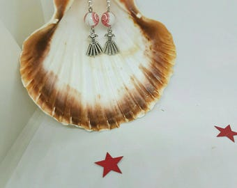 Dress charm and beads earrings