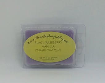 Wax melt, Black Raspberry Vanilla, clamshell wax melt, wax tart, soy wax, wax warmer