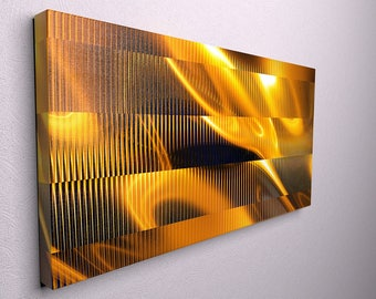 Gold flame canvas , gold canvas print, large gold canvas, large gold wall art, flames art abstract, abstract canvas art,  large abstract art