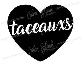 taceauxs SVG, DXF, EPS, clipart, svg cuttables, clip art, Cricut, Silhouette, Cutting File, love tacos