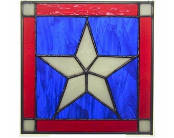 "July 12"" X 12"" Stained Glass Star Quilt Block Pattern PDF B&W Digital Download"