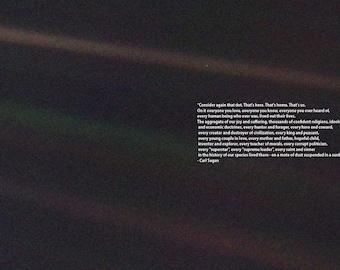 Carl Sagan Pale Blue Dot Quote. Space Print/Poster.