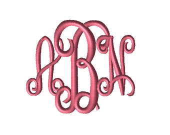 CUSTOM Embroidery File, Monogram, 4X4, Digital File, Embroidery Pattern, Machine Embroidery, Babylock, Brother, Bernina