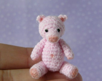 PDF PATTERN - Crochet Miniature Pig - Amigurumi Tutorial