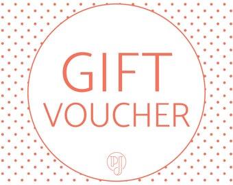 Gift Voucher / Gift Certificate / Plain Jane Au Gift Voucher