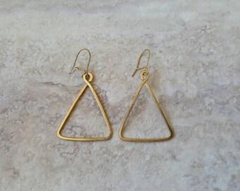 Small Pyramid Earrings