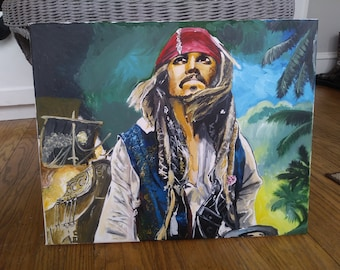 Jack Sparrow Canvas Painting
