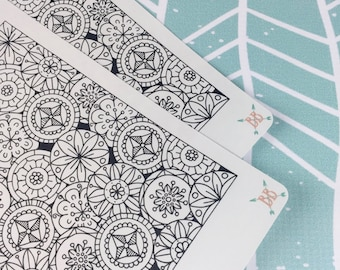 Full Page A5 Mini Mandalas Coloring Sticker