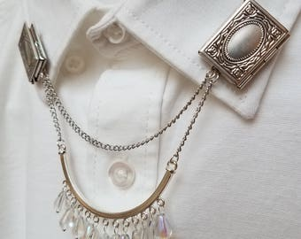 Novel Locket Collar Chain Set