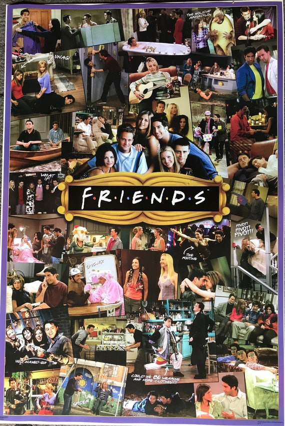 Freunde TV-Show Collage Poster 24 x 36