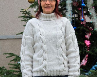 sweater and hat hand knitted wool