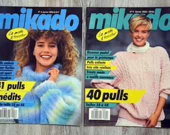 Set of 2 Mikado knitting magazines