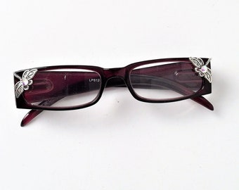 Reading glasses with Dragonfly, readers +2.75