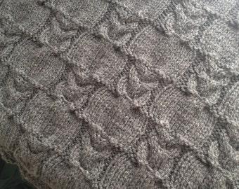 Owl Baby Blanket knitting pattern, PDF, Instant Download