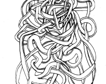 Spacial Strings #8/ you can purhase this image as an ATC Card, or a Giclee Print