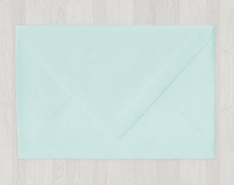 10 A8 Envelopes - Euro Flap - Light Blue - DIY Invitations - Envelopes for Weddings and Other Events