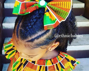 African Hairbow/ kente bow/bow tie /baby hairbow