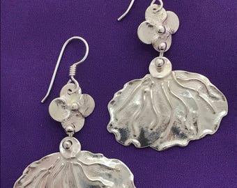 Butterfly Jewelry - Handcrafted Butterfly Wing Sterling Silver Earrings - Butterfly Earrings - Dangle Butterfly Wing Earrings