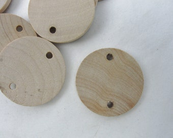"10 birthday board tags wooden Circles, 1.25"" wooden disc, wood disk 1 1/4"" x 1/8"" thick unfinished DIY"