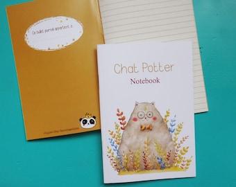 "Notebook A6 ""Potter cat"""