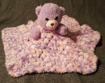 Crochet Lovey/ Elastic Lovey/ Animal Lovey