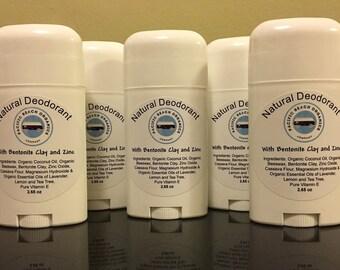 Bentonite Cay & Zinc Deodorant - Natural Deodorant - Organic Deodorant - Non-toxic - NO Aluminum