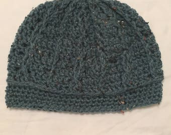 Teal Cabled Beanie