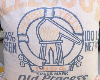 Vintage Grain Sack Pillow Cover - Authentic Grain Sack!