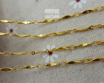 Shop sale-Gold bar chain-50 feet fabulous chain-brass chain-F78jin