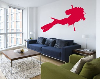 Scuba Diver Wall Decal