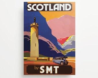 Vintage Travel Poster Scotland Giclée Print