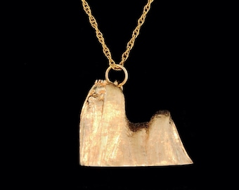 14k Yellow Gold Maltese Show Cut Pendant or Necklace (Optional Chain)
