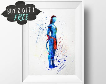 Avatar Poster, Neytiri Avatar Wall Art, Avatar Movie Print, Anime Poster, Avatar Decor, Avatar Birthday Party Theme Printable, Anime Poster