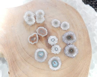 Amethyst Stalactite Pairs - Amazing Nature Made Stone for Jewelry Making  (GD3A-03)