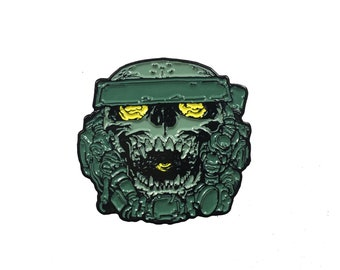 The Beholder Skull Lapel Pin Erwin Papa x Born Rad Shop Collab Pin 2 of 2 Limited Edition